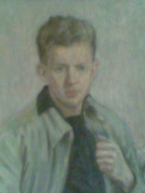 Tadeusz Rynkiewicz w młodości autoportret